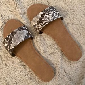Shoes - snakeskin flats